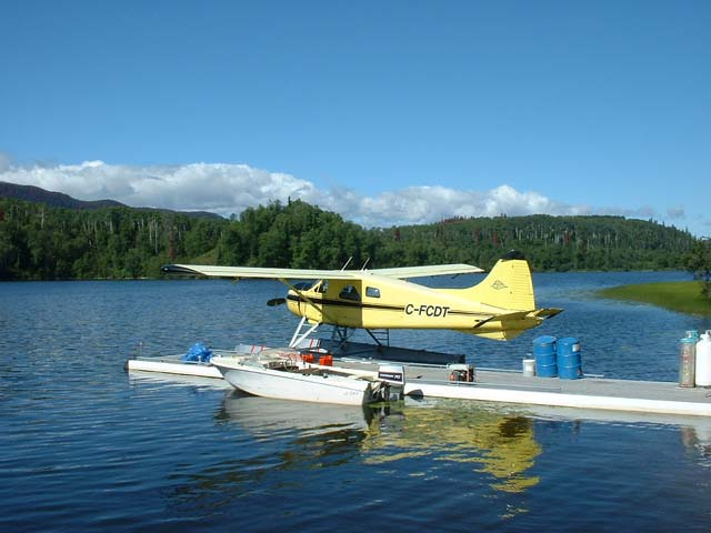 Beaver aircraft on Burns Lake.