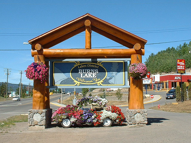 Entrance to Burns Lake BC.