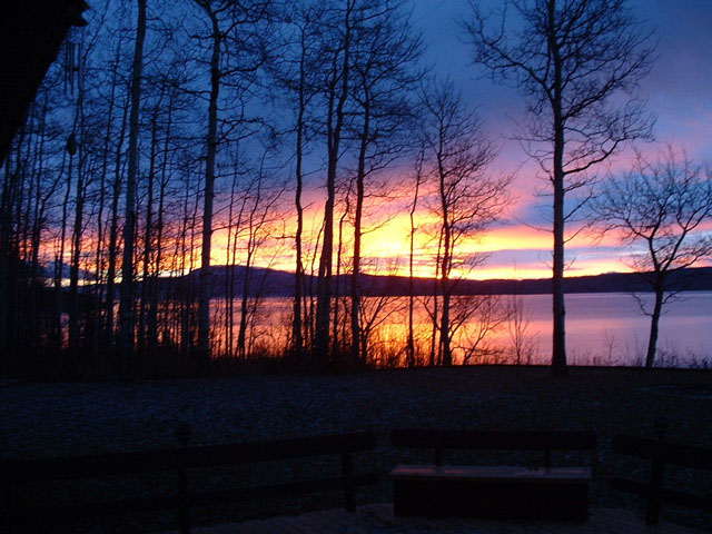 Winter sunrise on Francois Lake.